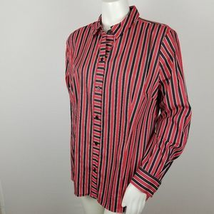Limited Two Bar Stripes Essential XL Button Front